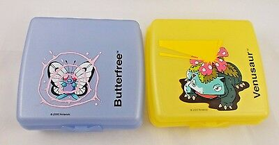 Tupperware Pokemon Venasaur Sandwich Plastic Container Keeper 5""