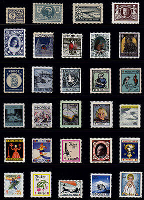 Norway 1907-1977 Christmas Seals Collection