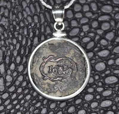 Authentic Pirate Shipwreck 1656 8 Maravedis Coin 925 Sterling Silver Necklace