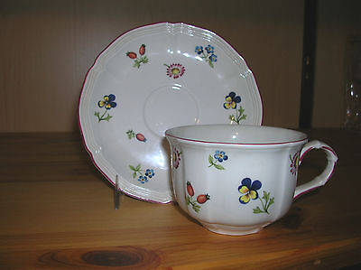 Villeroy And Boch  Petite Fleur Cup And Saucer