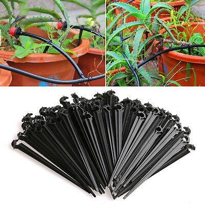 New 100Pcs 4mm/7mm Micro Hose Fixed C-Type Holders Drip Irrigation Accessories