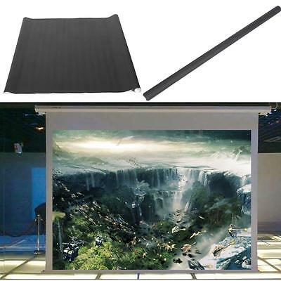 100'' Portable Projector Screen HD Movie Cinema Theater White 16:9 Projection
