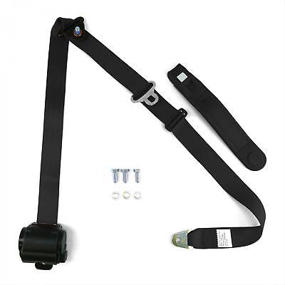 Classic Style 3 Point Retractable Black Seat Belts Musclecar Vintage Resto Kit