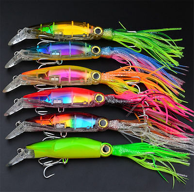 Esche Artificiali Calamaro Squid 1# Gancio Per Peaca Fishing Lures Bait 24cm