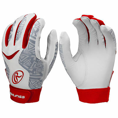 Rawlings Storm Women's Fastpitch Softball Batting Gloves - Scarlet - XS
