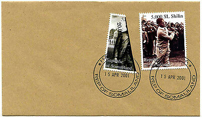 Somaliland 2001 Golf + Surch Bisect Stamp Cover #C35394