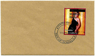 Somaliland 2001 Sophie Jones + Surch Stamp Cover #C35376