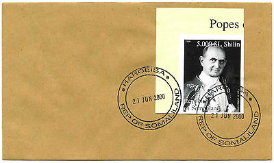 Somaliland 2000 Pope Paul VI Imperf Stamp Cover #C35326