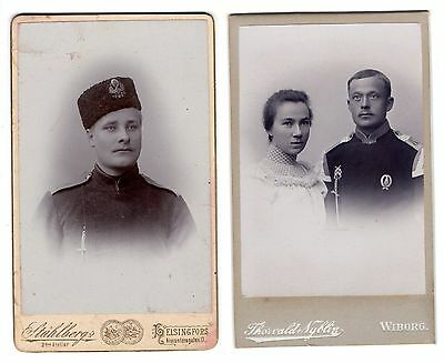 early 1900 lot 2 ANTIQUE PHOTOS VISIT PORTRAIT FINLAND IMPERIAL RUSSIA RUSSIAN