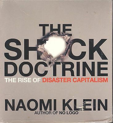 Naomi Klein The Shock Doctrine audiobook CD NEW