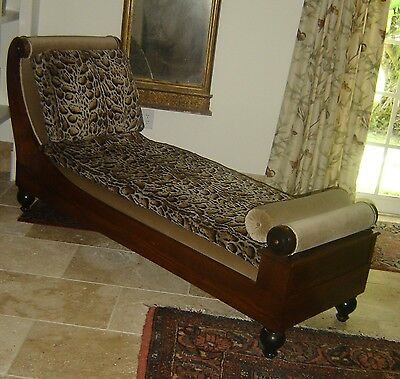 Antique Biedermeier Recamier Chaise Longue Sweden C.1825 Museum Piece Rare.