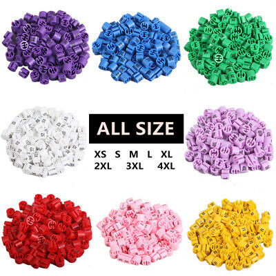 """Colored Hanger Sizer Garment Markers """"XS-6XL""""Plastic Size Marker Tags All Sizes"""