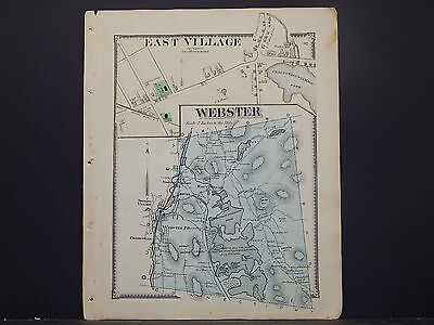 Massachusetts, Worcester County Map, 1870 P2#31 Webster, East Village