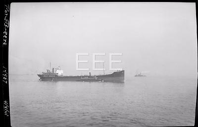 1941 Point breeze w/ Tugboat Ship NYC Old Photo Negative Percy Speer 65A