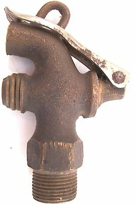"LOCKABLE SPIGOT NAT. BRASS 3/4""x5/8"" Pat 12/10/12 PADLOCK Vtg"