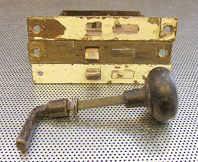 RESTORATION HARDWARE 3 VINTAGE DOOR LOCKS MORTISE SHAFT KNOB NO KEY 5164 Vtg