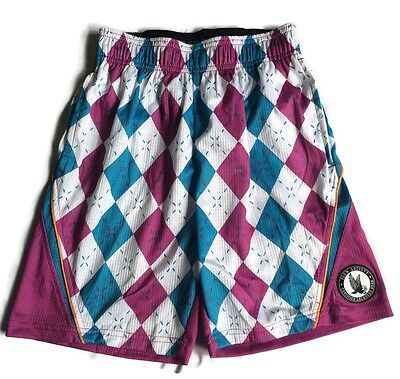 Flow Society Argyle Perf Youth Lacrosse Shorts Extra Small