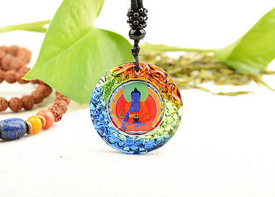 Power Of Healing! Blessed High Qulity Colored Glaze Pendant: Medicine Buddha