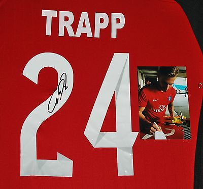 Paris Saint Germain Psg Star Kevin Trapp Germany Signed Soccer Jersey W/proof