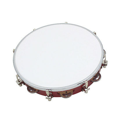 "New 10"" Double Row Jingle Percussion Tambourine for Church Band Music"