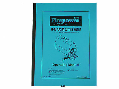 Thermal Dynamics Firepower FP-18 Plasma Cutter Operating Manual *963