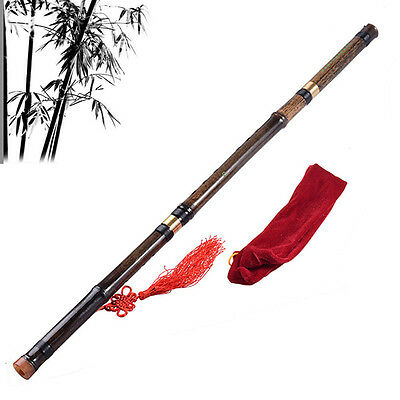 Traditional Chinese Musical Instrument Long Bamboo Flute in G Key Dizi Handmade
