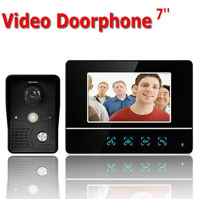 """7"""" 120° Angle Doorbell Touch Color Screen Visual Video Camera Intercom System"""