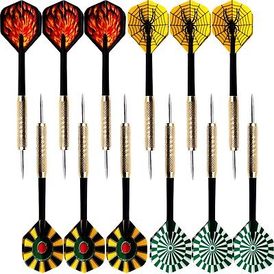 15 pcs(5 sets) of Steel Tip Dart 14g Darts With Nice Flight Flights NEW
