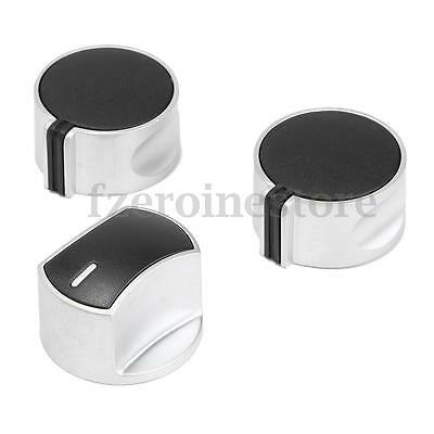 Universal Silver Gas Stove Knobs Cooker Oven Hob Kitchen Switch Control Metal