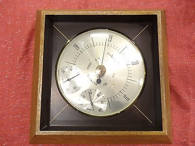 Vintage AIRGUIDE Wall Barometer Thermometer Hygrometer Weather Station MADE USA
