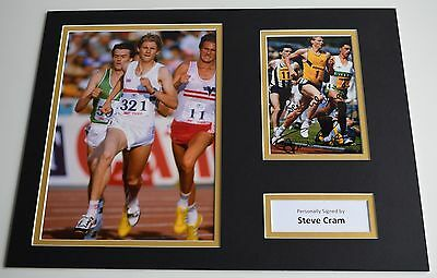 Steve Cram SIGNED autograph 16x12 photo display Olympics LA 1984 AFTAL & COA