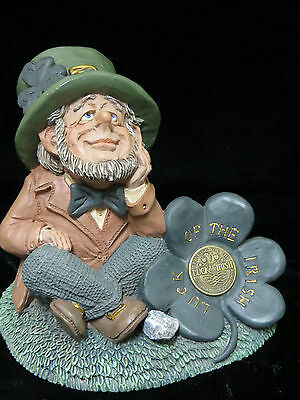 Luck of the Irish Leprechaun Shamrock Finnians Guardians of Blarney Stone Figure
