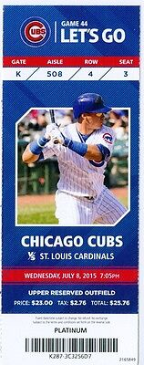 2015 Cubs vs Cardinals Ticket: Jhonny Peralta hits 2-out, 2-run HR in 9th