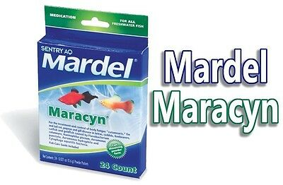 Fritz Mardel Maracyn Fast Dissolve Medicated 24 Pack Bacterial Infection Powder