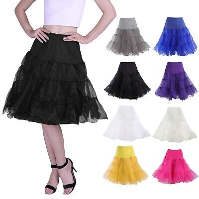 50's Vintage Rockabilly Petticoat Swing Dress Underskirt A-Line Tutu Slip Skirt