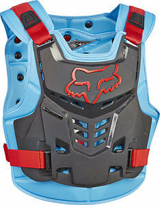 Fox Racing Proframe LC Roost Deflector Guard Chest Protector BLUE/RED 13577-149