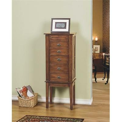 CTE Trading SW1121-SM-COF 5 Drawer Jewelry Armoire Coffee