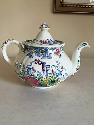 ANTIQUE MASONS IRONSTONE china STRATHMORE TEAPOT ENGLAND! EXCELLENT!!