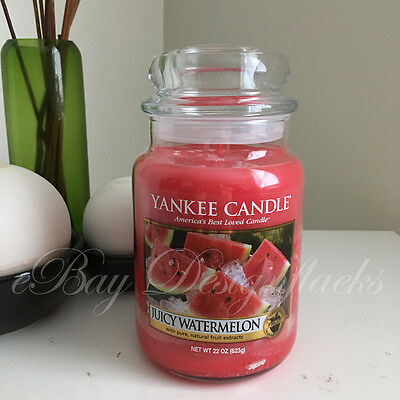 Yankee Candle ~ JUICY WATERMELON ~ *Free Shipping* 22oz Large Jar
