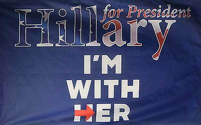 Hillary I'm With Her 3'x5' Poly Flag, Made In The Usa