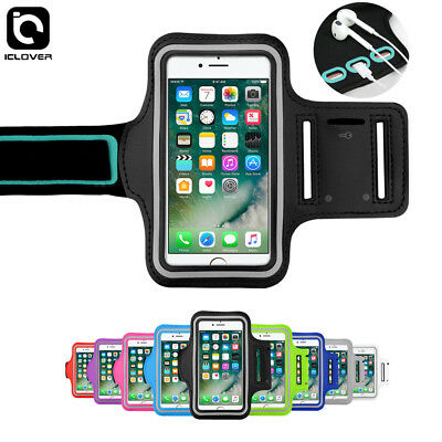 For iPhone 7/ 8/ Plus Sports Gym Jogging Running Armband Arm Holder Case F Apple