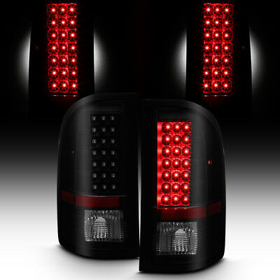 Blk Smoked 2007-13 Silverado 1500/07-14 2500HD 3500HD LED Tail Lights Left+Right