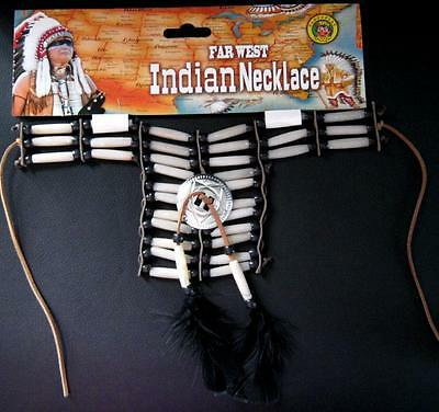 Native American INDIAN Tribal Necklace Fancy Dress Party Costume Jewellery NEW