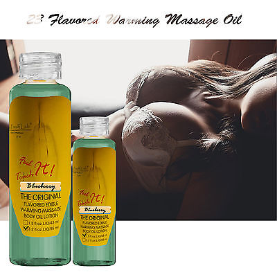 Natural Essential Body Warming Massage Oil Sexy Smells Delicious Lubrication -