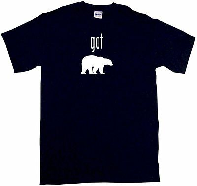 Got Grizzly Bear Silhouette Kids Tee Shirt Boys Girls Unisex 2T-XL