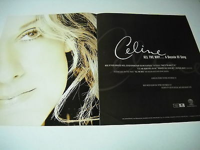 CELINE DION supersized 1999 PROMO POSTER AD All The Way