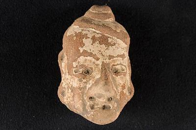 """NobleSpirit NO RESERVE {3970} Fabulous 2 3/4"""" Pre Columbian Stone Carved Head"""