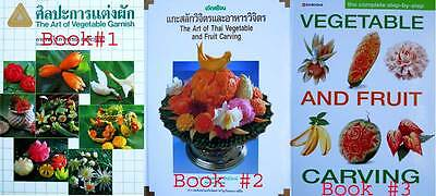 Learning Thai Art Carving Book Fruit Vegetable Culinary Craft Garnish Cuisine