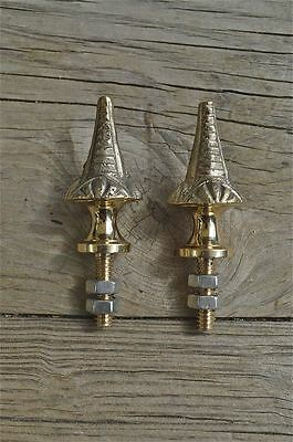 A pair of superb quality antique brass furniture or clock finials Z7
