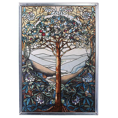 Tiffany Style Creative Enchanting Tree Of Life Stained Glass Window Art New